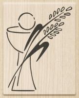 Razítko dřevěné (5,5x7 cm) - kalich, klasy