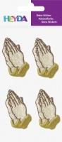 3D samolepky ruce v modlitbě - 45x30 mm (4 ks)