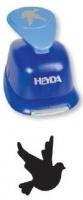 Děrovač modrý 22 mm - holubice
