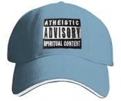 ATHEISTIC ADVISORY - světle modrá/bílá