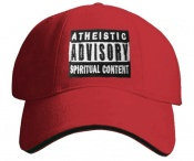 ATHEISTIC ADVISORY - červená/černá