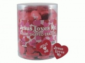 Jesus loves me - Heart shaped