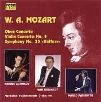 Koncert pro hoboj, Koncert pro housle č. 5 A dur, Symfonie č...