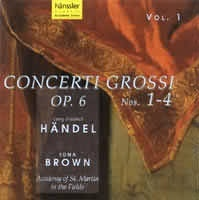 Concerti Grossi Op.6 No.1-4 (Vol.1)