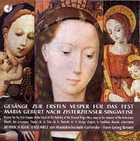 Gesänge zur ersten Vesper für das Fest Maria Geburt nach Zis...