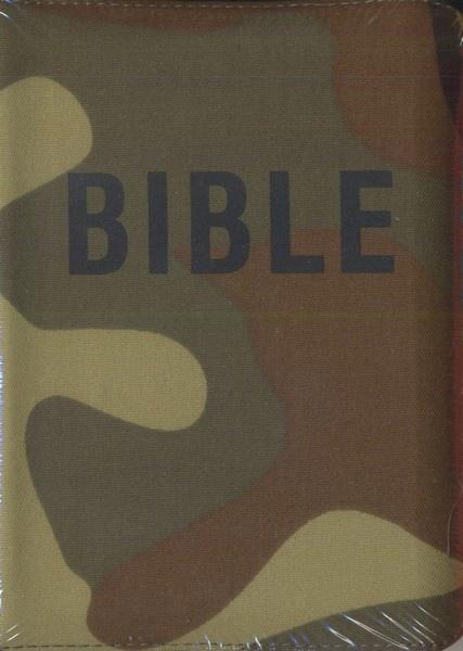 Bible na zip - maskáčová (Český ekumenický překlad včetně DTK, dvousloupcová)
