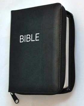 Bible na zip - černá (Český ekumenický překlad, s DTK, dvousloupcová)