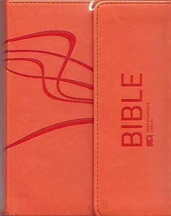 Bible - malý formát s magnetickou klopou - ČEP (měkká vazba, umělá oranžová kůže)
