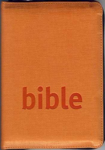 Bible - studijní překlad (kapesní se zipem - měkká vazba, umělá oranžová kůže)