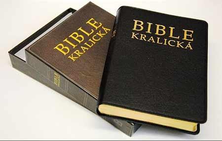 Bible kralická - luxus (kůže + krabička)