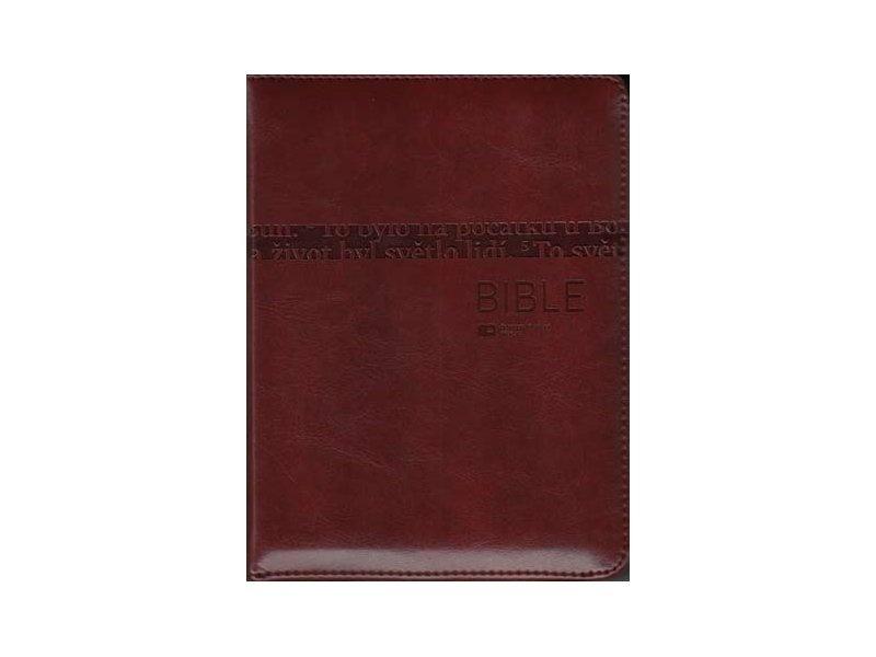 Bible: Český ekumenický překlad s DTK malá, zip (hnědá s výřezy)