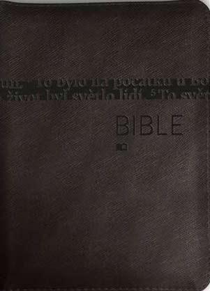 Bible: Český ekumenický překlad bez DTK - střední formát, zip (mosazná s výřezy)