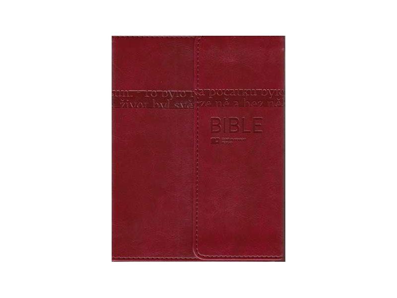 Bible: Český ekumenický překlad s DTK malá s magnetickou klopou (umělá kůže hnědá)