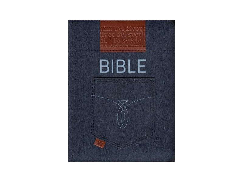 Bible: Český ekumenický překlad s DTK malá, zip, jeans, výřezy