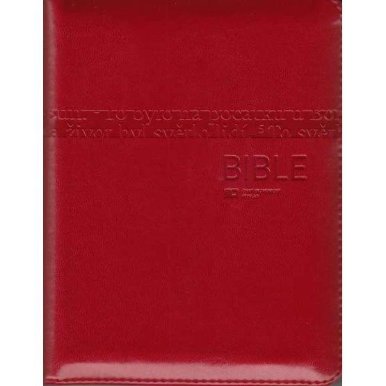 Bible: Český ekumenický překlad s DTK - malá, zip, červená