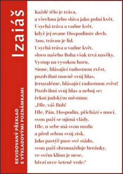 Izaiáš - revidovaný překlad s výkladovými pozn.