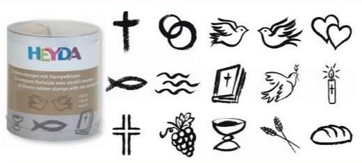 Razítka - duchovní motivy (15ks)