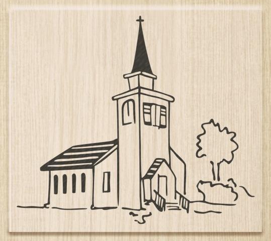 Razítko dřevěné (8x7 cm) - kaple