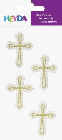3D samolepky kříže - 42x30 mm (4 ks)
