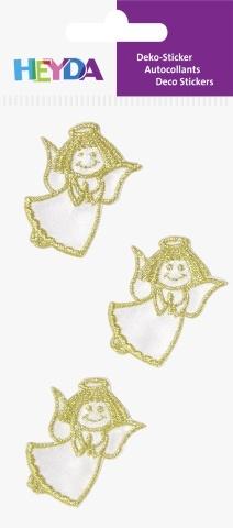 3D samolepky andělé zlaté - 40x 30 mm (3 ks)