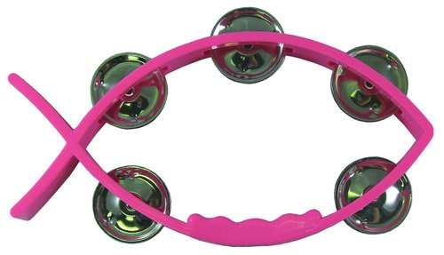 Tambourine Pink - Fish shaped