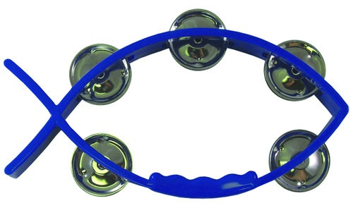 Tambourine Blue - Fish shaped