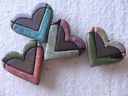 Magnetka - srdce (různé barvy)