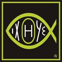 ryba (ICHTHUS) - zelená
