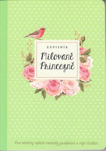 zápisník Milované Princezně - zelený