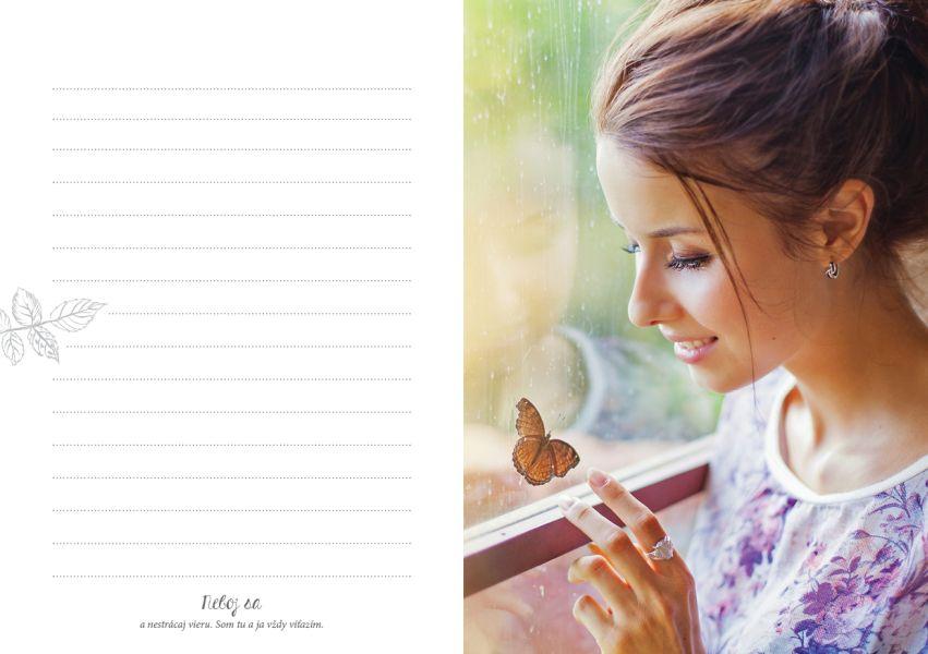 zápisník Milované Princezně - červený