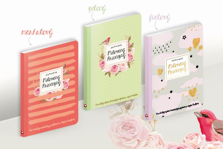 zápisník Milované Princezně - fialový