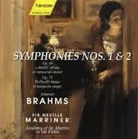 Symphonies Nos. 1  2 (č. 1 c moll op. 68, č. 2 D dur op. 73)...