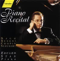 (Bach-Busoni: 4 chorály, Schubert: sonáta B dur, Chopin: Nokturno, Mazurky....)