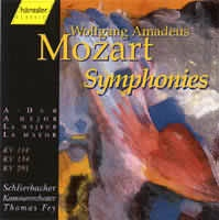 Symphonies A-Dur (KV 114, 134, 201)