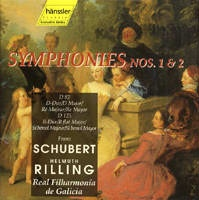 Symphonies Nos. 1 & 2 (č. 1 D dur D 82,  č. 2 B dur D 125)