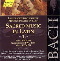 Sacred Music in Latin 1 (Missa F dur BWV 233, A dur BWV 234, Kyrie BWV 233A)