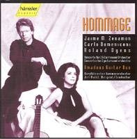 Hommage (Amadeus Guitar Duo): koncerty pro 2 kytary a orch. (Zenamon, Domeniconi, Dyens)