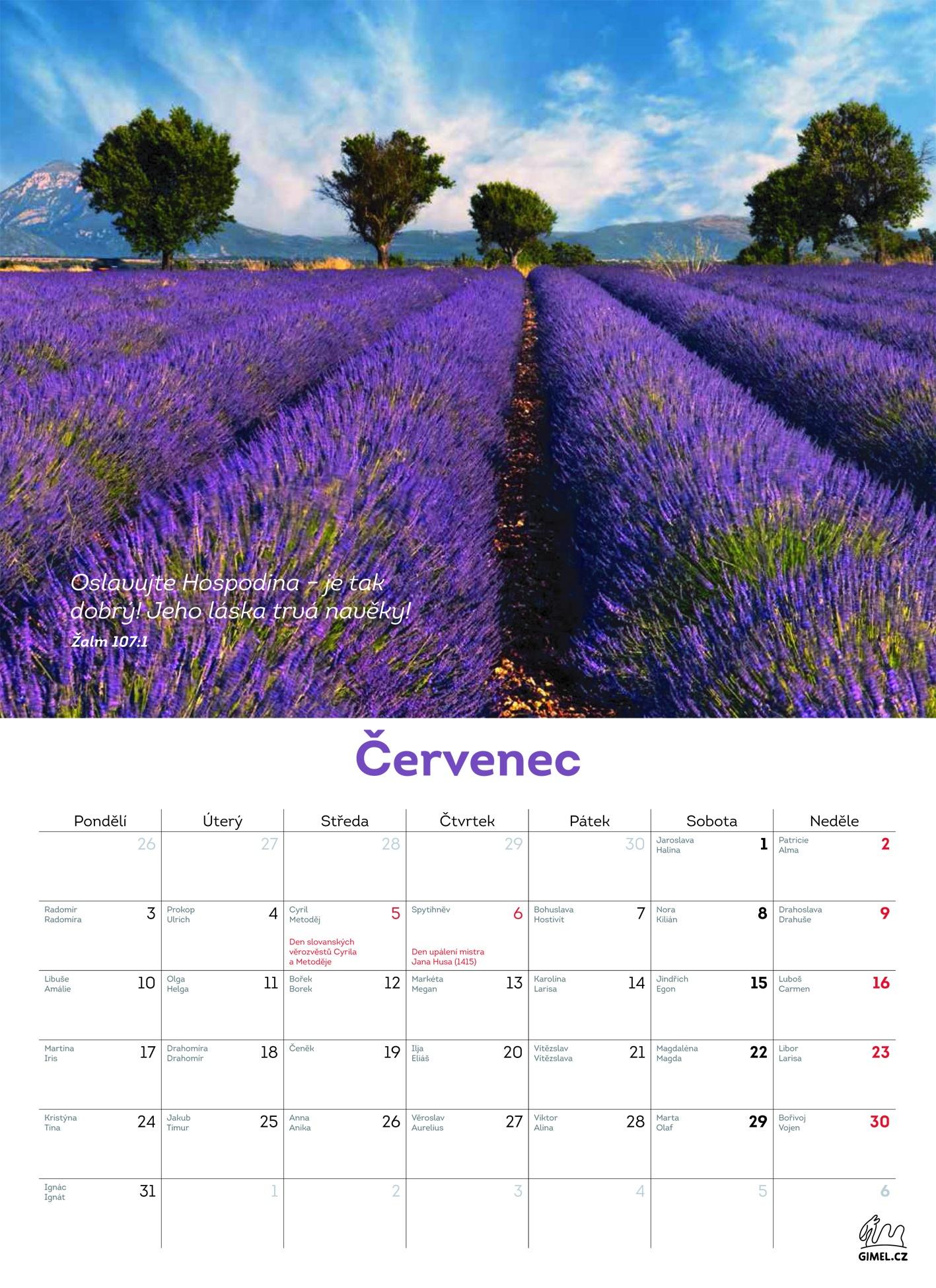nastenny kalendar Nástěnný kalendář 2017 (velký   kouzelná příroda)   Hospodinova je  nastenny kalendar